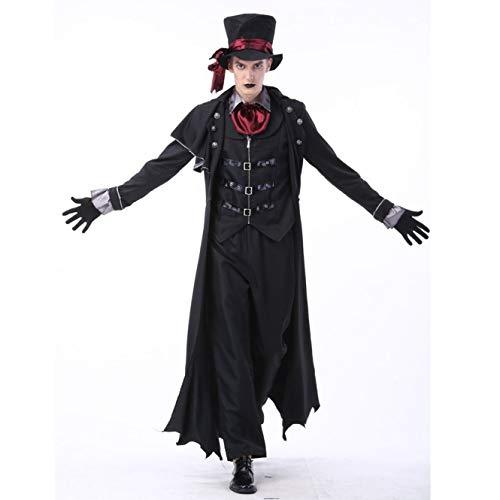 LBFKJ Rollenspiele, Halloween-Kostüm für Erwachsene Vampir Kostüm, Maskerade Bühnenkostüm, dämonischer ()