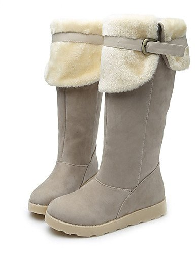 CU@EY Da donna-Stivaletti-Formale-Anfibi-Piatto-Finta pelle-Nero / Marrone / Beige brown-us7.5 / eu38 / uk5.5 / cn38