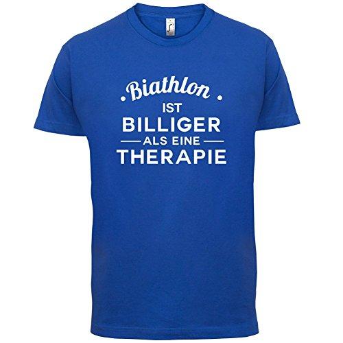 Biathlon ist billiger als eine Therapie - Herren T-Shirt - 13 Farben Royalblau
