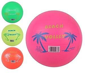 Globo Toys Globo 50776 - Balón de Voleibol de Playa de Verano, 220 mm, 3 Colores, con Red