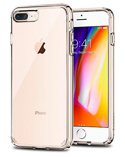 iPhone 8 PLUS / 7 PLUS Hülle, Spigen [Ultra Hybrid 2] iPhone 8 PLUS Hülle, Luftpolster Technologie [Crystal Clear] Zweite Generation des Ultra Hybrid für iPhone 8 PLUS und verstärkter Kamera- und Buttonschutz / Einteilige Transparent Handyhülle Durchsicht