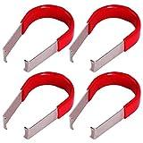 Anladia 4 STK. Universal Demontagezange Abzieher Abziehaken Clips Fuer 17mm 19mm Radschrauben Radmutter Radschraubenkappen Kappe Felgenschloss Rot