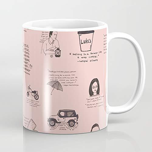 ZIQIZIYU Gilmore Girls Quotes in Pink 324 ml Kaffeetasse