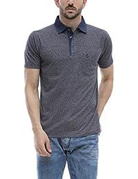 ALX New York Mens Cotton Polo T-shirt_ALX-CK-1393_Navy