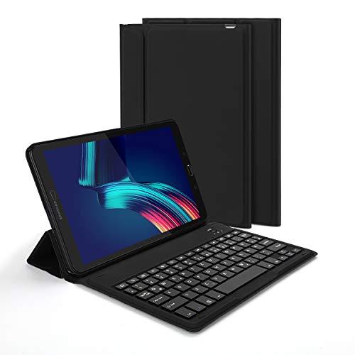 Jelly Comb Samsung Galaxy Tab A 10.1 Bluetooth Tastatur Hülle, QWERTZ Android Tablet Tastatur mit Ultraslim Schützhülle für Samsung Galaxy Tab A T580/T585 25,54cm (10,1 Zoll), Schwarz