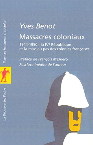 Massacres coloniaux par Yves BENOT