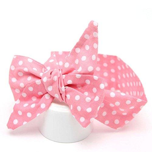 Haar Band Kolylong Baby Mädchen elastisch bowknot Stoff Baumwolle Stirnband (108*7CM/42.5*2.8