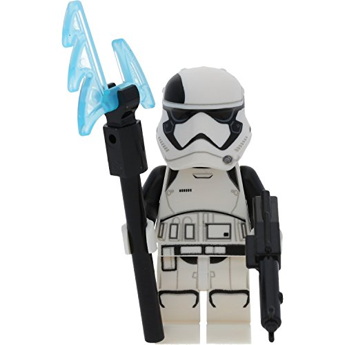 LEGO Star Wars Minifigur First Order Stormtrooper inclusive LEGO Waffe sowie mit GALAXYARMS Blaster (Spielzeug Blaster Star Stormtrooper Wars)