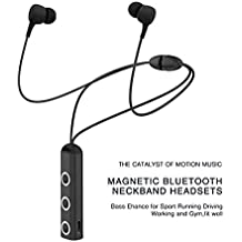 Wireless Bluetooth in-Ear Headphones for ZTE Sonata 4G Earphone Headset with Mic, V25 Magnetic Earbuds, Neck-Band, Jogger