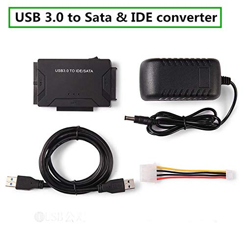 SUNDELLAO USB 3.0 to IDE & SATA Converter External Hard Drive Adapter Kit 2.5