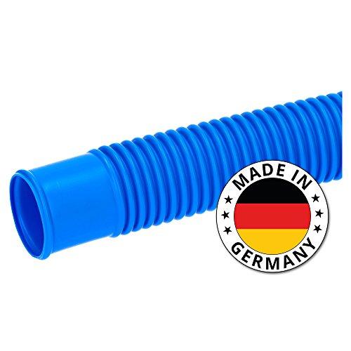 SL247 Poolschlauch 38mm Blau 6m Lang I Schwimmbadschlauch Zum Anschließen der Sandfilterpumpe an Den Pool I Made in Germany