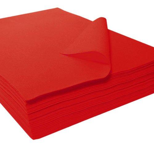 The Felt Store - Bastelfilz Filzzuschnitte in rot aus synthetischem Filz 25 Stück