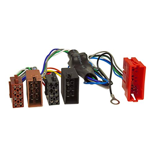 tomzz Audio 7003-002 Aktivsystem Radio Adapter passend für Audi A2 A3 A4 B5 A6 A8 TT Bose DSP Kabel 4x50W auf 16pol ISO Norm