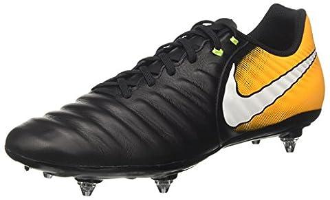 Nike Herren Tiempo Ligera IV SG Fußballschuhe, Schwarz (Black/White/Laser Orange/Volt), 45 EU