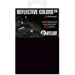 VFLUO 3M Reflective ColorsTM, Feuille rétro réfléchissant à découper pour Casque Moto, Scooter, vélo, Multi-Usage, 3M TechnologyTM, 10 x 15 cm, Noir