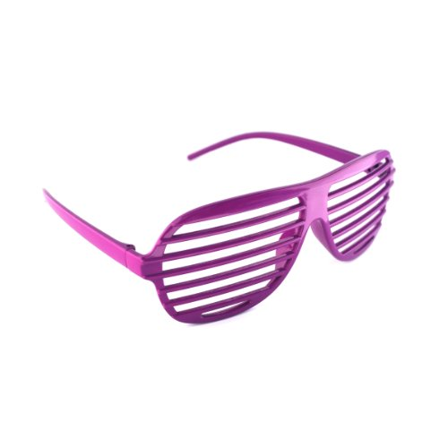 Lila / Purple Neuheit-Shutter Shades Sonnenbrille