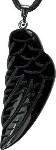 Preisvergleich Produktbild Edelstein-Anhänger,  Engelsflügel Onyx
