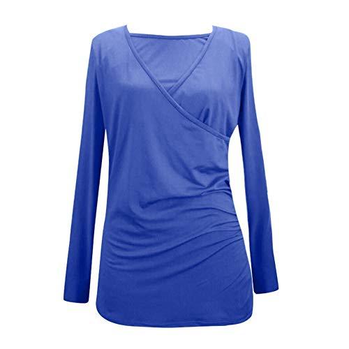 8e026f7384817 Manadlian - T-shirts T-Shirt de Maternité Femme, à Manches Longues Top