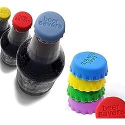 Rainbow amor silicona fresco condimento botella de cerveza tapa beer Saver, juego de 10