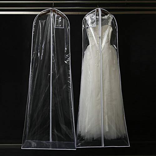 Behavetw Brautkleid, Staubdichter Beutel, hängende Kleidungsstücke, Schutzabdeckung, Aufbewahrung,...