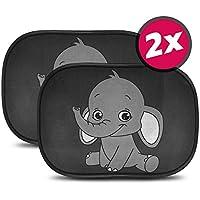 Protección Solar Auto parasol bebé y niños–Universal tamaño 44x 36cm para ventana lateral, protección UV y de calor Fácil de colocar