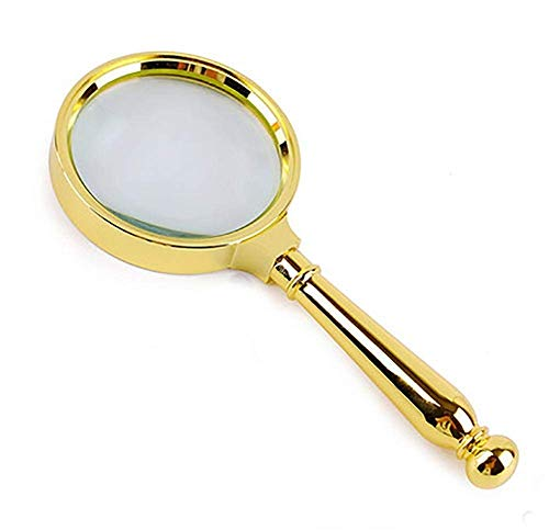 BHXUD Handheld 8 X Lupe Lupe Loupe Reading Schmuck Metallgriff
