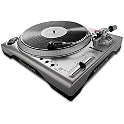 Numark TTUSB - Plato de DJ profesional con interfaz de audio, puerto USB , software de conversión y pitch ajustable