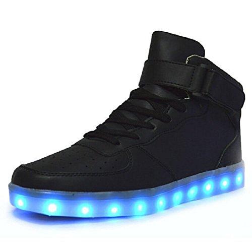 #Unisex Blinkende Leuchtende Muße Sneaker High top Farbwechsel Licht LED Schuhe von Vada-Tec©#