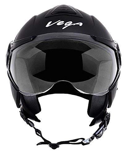 Vega Verve Open Face Helmet (Black, M)