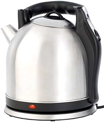 Rosenstein & Söhne Teekessel-Wasserkocher: XXL-Edelstahl-Wasserkocher WSK-200.mx, 3,8 Liter (Kabelloser Tee- und Wasserkocher)