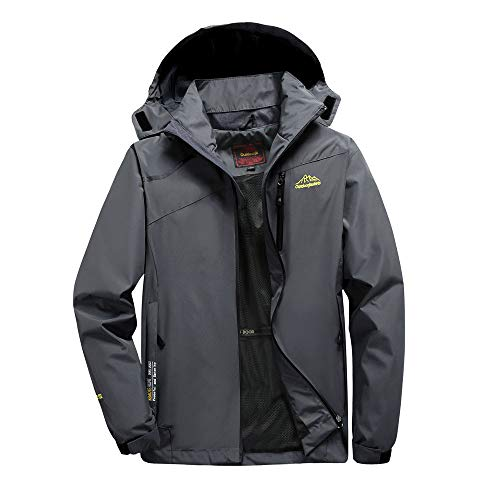 Oliviavane Herren Frühjahr Herbst Outdoor Tasche Hoodie Reißverschluss Sport Outdoor Assault Coat Fashion dünne Windjacke Wind und Regen Outdoorjacke Knit Wind Jacke