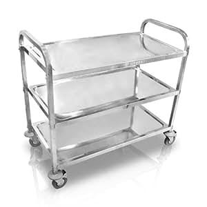 chariot de desserte inox roulant cuisine ref 10216 jardin. Black Bedroom Furniture Sets. Home Design Ideas