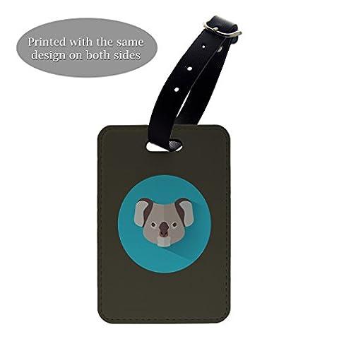 Koala Bär Face Kunstdruck Design Muster Gepäck Koffer Gepäck Tag–P802