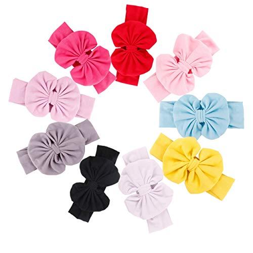 GUIFIER 9 piezas diademas para bebés con arcos bandas para el cabello...