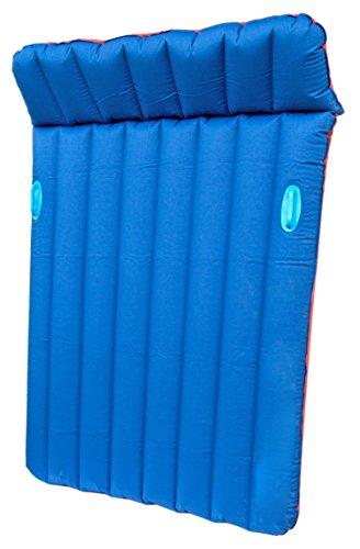Preisvergleich Produktbild Doppel-Luft-Matratze 190cmx134cm Blau Rot Baumwoll Gewebe-Luftmatratze Wasser Doppel-Bett Luftbett Party Pool Spielzeug Doppelbox-Matratze für Gästebett Boxmatratze und Freizeit