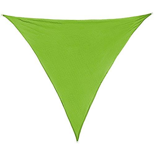 Voile d'ombrage SUN FRANCIS triangulaire 100 % polyester [PES] en différentes couleurs, Größe (Fläche) Sonnensegel:5m x 5m x 5m;Couleur:Émeraude