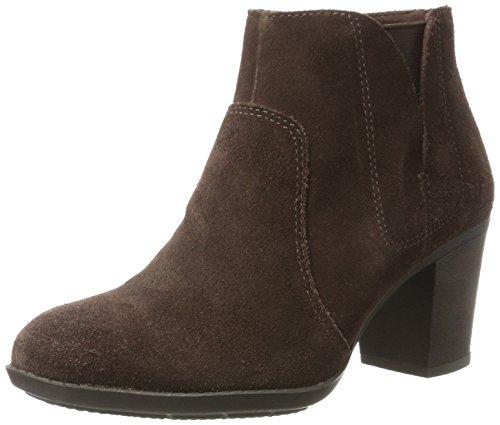Clarks Women's Enfield Senya Cowboy Boots, Brown (Dark Brown Suede), 5.5 UK(39...