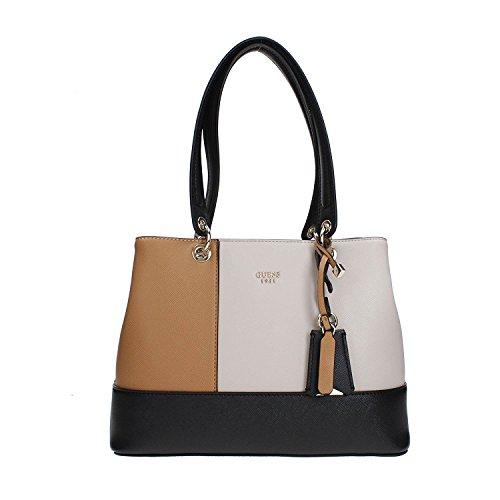 Guess Damen Bags Hobo Schultertasche, Mehrfarbig (Black Multi), 14.5x25.5x32.5 centimeters (Hobo-handtasche Guess)