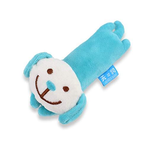RONSHIN Haushaltswaren für Haustiere Nettes Plüsch-Karikatur-Tierformbiss-beständiges Ton-Spielzeug für Haustier-Hund Blauer Welpe -