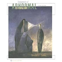 Fundamentals of Abnormal Psychology, 3rd Edition by Ronald J. Comer (2001-10-30)