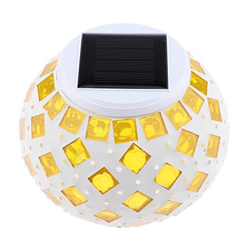 perfeclan Farbwechsel Solarleuchte Tischdeko, Perfekt Für Tisch/Garten / Party Deko - Gelb (Gelb Moderne Keramik-tischlampe)