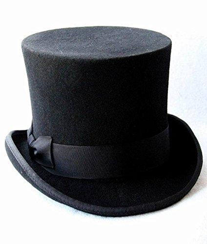 Sunny&Baby Zylinder für Frauen / Männer viktorianischen Vintage Wolle Fedoras Cap Mode ( Color : 2 , Size : 61cm ) (Fedora-hüte Für Frauen Groß)