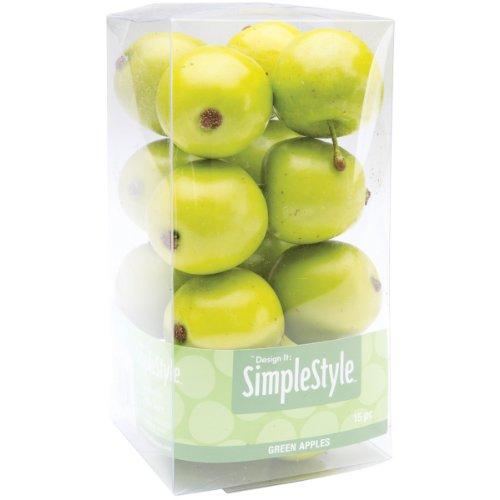 Design It Simple Decorative Fruit 15/Pkg-Mini Green Apple -
