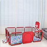 WLAN Box per Bambini Baby Play Recinto per Bambini Balls Pool per Neonato Recinto Box Barriera di Sicurezza Utile per Mantenere Una casa Pulita e ordinata per Te (esclusa la Palla),Rosso