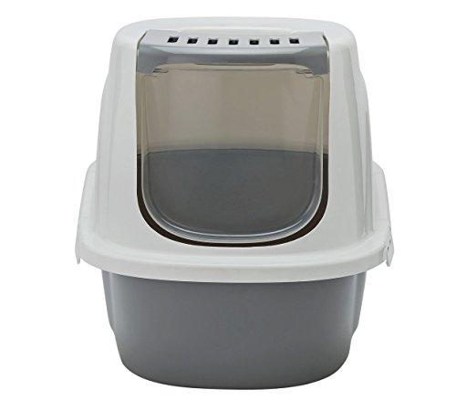 Katzentoilette, Öffnung vorne Schnelle und einfache Reinigung Modern mit Active Carbon Filter Jumbo Größe verdeckt