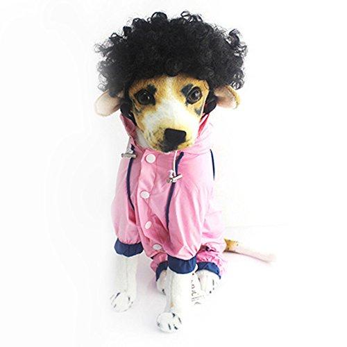 Pet Dogs Dog Cosplay Costume Curly Funny Wig Halloween Christmas Costumes Adjustable (Black Dog Halloween-kostüm)