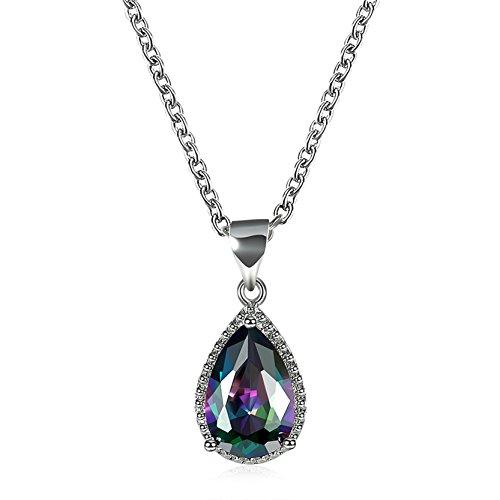 Preisvergleich Produktbild Frauen Regentropfen Anhänger Halskette Lange Kette Halskette Länge 45.5 + 5 Cm