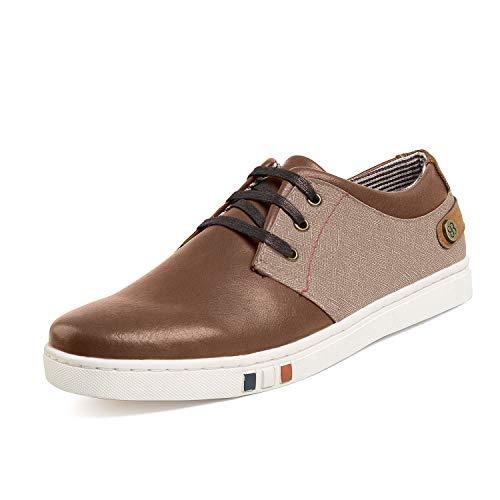 Bruno Marc NY-03 Hombre Zapatillas de Cordones Casual Cómodo Zapatos Marrón 41 EU/8 US
