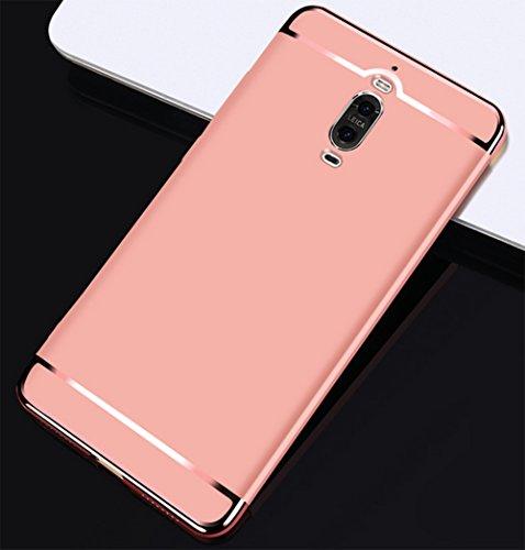 Coque Huawei Mate 9 Pro, MSVII® 3-in-1 Design PC Coque Etui Housse Case et Protecteur écran Pour Huawei Mate 9 Pro (Pas compatible avec Huawei Mate 9) - Or JY50008 Or rose