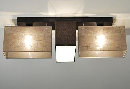Plafoniera illuminazione a soffitto in legno massiccio jls3162d
